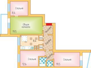 Продажа квартир: 4-комнатная квартира, Краснодар, ул. им Тюляева, 166, фото 1