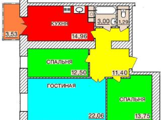 Продажа квартир: 3-комнатная квартира, Смоленск, Киевское ш., Ш, фото 1