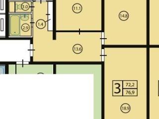 Продажа квартир: 3-комнатная квартира в новостройке, Москва, Шипиловский проезд, 39к2, фото 1