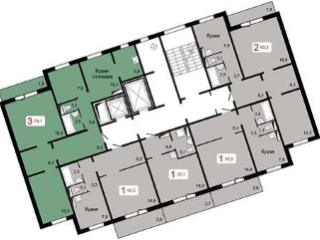 Продажа квартир: 2-комнатная квартира в новостройке, Красноярск, ул. Шахтеров, 2Б/3, фото 1