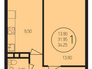 Продажа квартир: 1-комнатная квартира, Краснодар, Степная ул., 1/1, фото 1