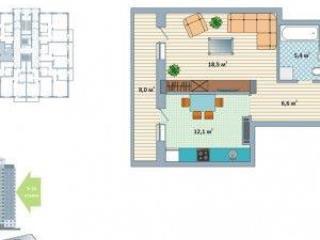 Продажа квартир: 1-комнатная квартира в новостройке, Кемерово, ул. Сибиряков-Гвардейцев, 22, фото 1