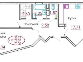 Продажа квартир: 2-комнатная квартира, Краснодар, Российская ул., 79к3, фото 1