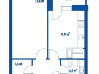 Продажа квартир: 1-комнатная квартира в новостройке, Москва, Дмитровское ш., 100, фото 1