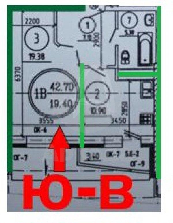 Продажа квартир: 2-комнатная квартира в новостройке, Тюмень, ул. Болотникова, 34, фото 1